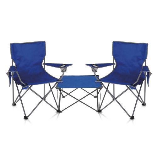 זוג כסאות נוח עם שולחן
