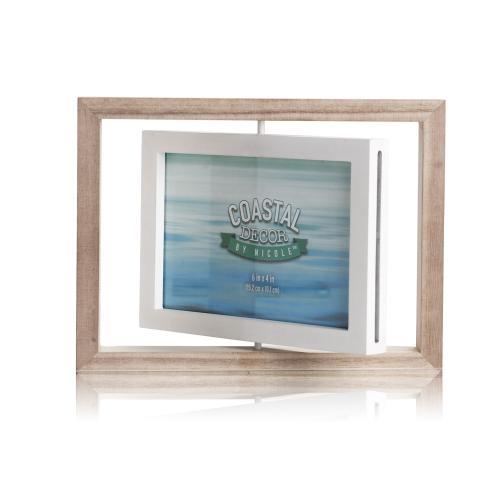 מסגרת עץ מסתובבת לזוג תמונות