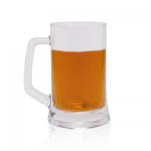 כוס זכוכית לבירה עם ידית אחיזה