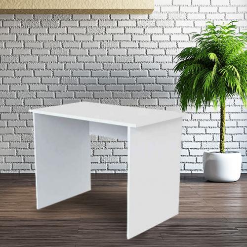 שולחן מחשב לבן 95*60*75