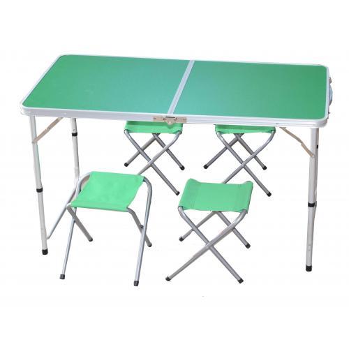 שולחן וארבעה כסאות אלמיניום