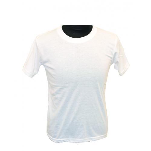חולצת כותנה ילדים לבנה