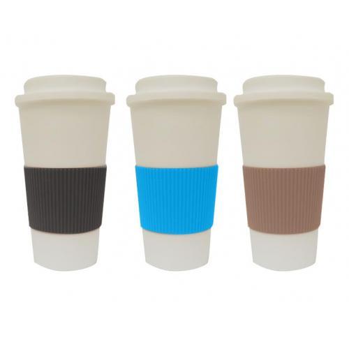 כוס טרמית עם חבק סיליקון צבעוני