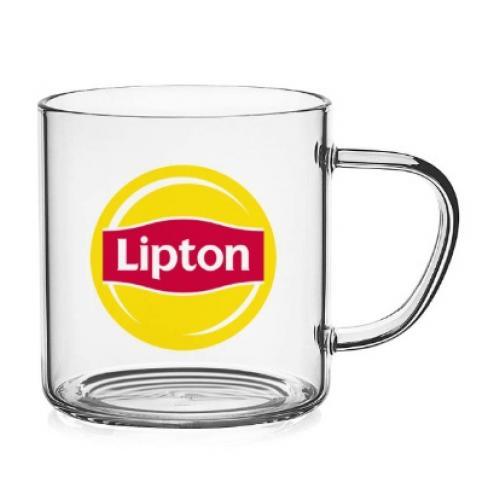 כוס זכוכית עם ידית בעיצוב קלאסי