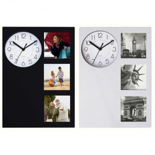 לוח תמונות ושעון משפחתי לתלייה על הקיר
