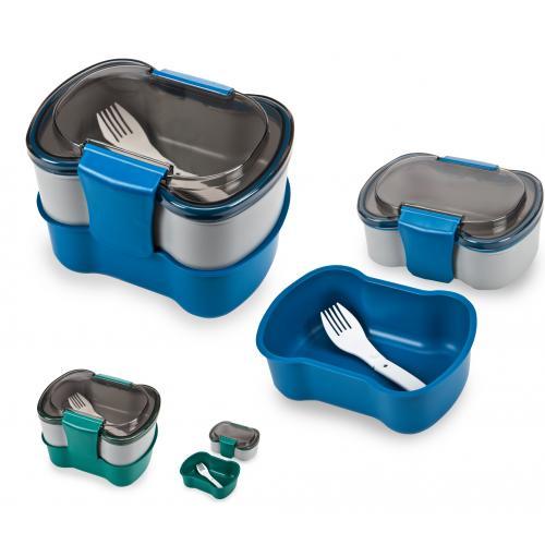 בוקסיט - קופסת אוכל כפולה פטנט 1.4 ליטר