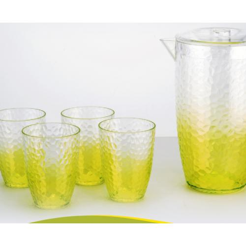 סט מעוצב קנקן ו-4 כוסות לשתיה קלה