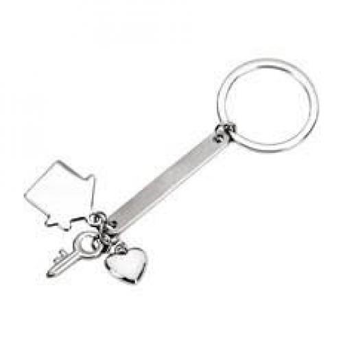 מחזיק מפתחות עם פס מתכת