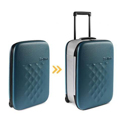 """מזוודה מתקפלת מעוצבת עליה למטוס """"21 מבית Rollink"""