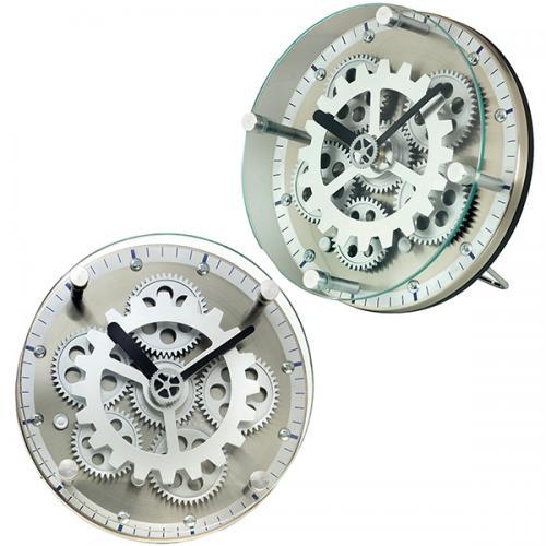 שעון שולחני עגול קטן גלגלי שיניים