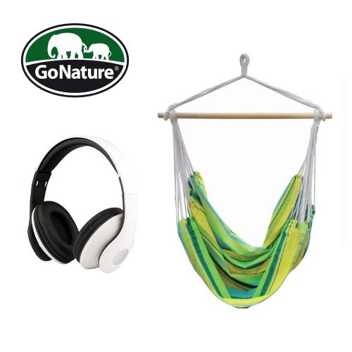 ערסל Go Nature בשילוב אוזניות מקצועיות מתקפלות