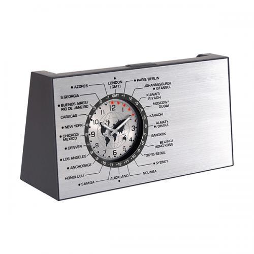 """שעון עולם """" יוניברס """" מסתובב עם מעמד כרטיסי ביקור משולב"""