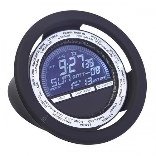 """"""" דרייב """" שעון עולם יוקרתי עגול דיגיטלי בעיצוב הגה"""