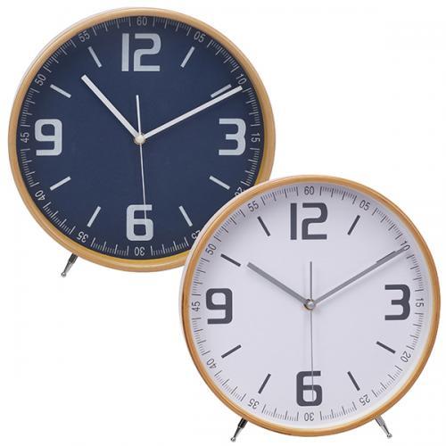 """שעון במבוק טבעי שולחני  בקוטר 25 ס""""מ"""