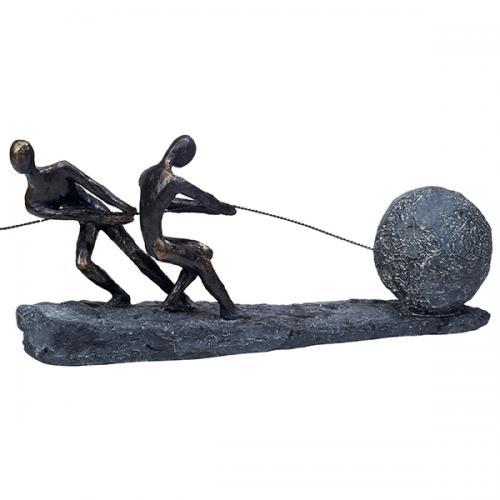 """פסל אומנותי  -  """" שילוב כוחות """""""