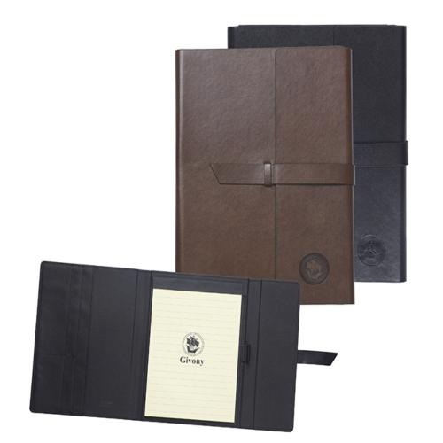 מכתבית גבעוני PU דמוי עור יוקרתי שחור A5 סגירת רצועה+קופסה גודל 26X19cm