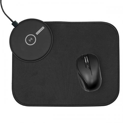 משטח לעכבר משולב עם מטען אלחוטי מהיר 10W ועכבר אלחוטי