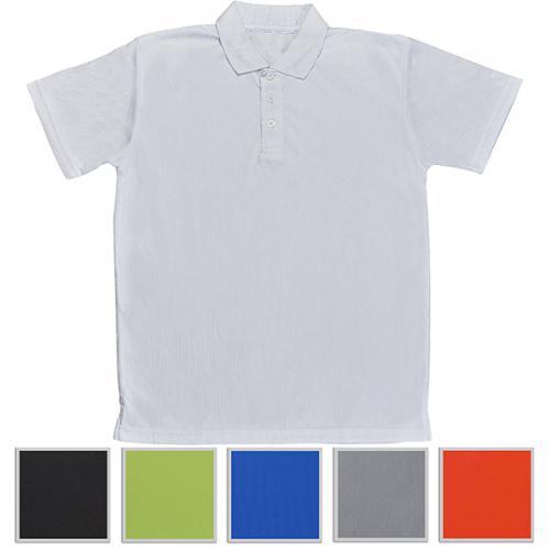 חולצת צווארון פולו שרוול קצר 100% כותנה איכותית