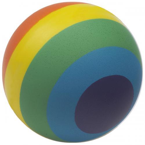 """כדור גומי בצבעי הקשת 7ס""""מ"""