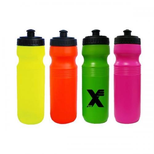 """בקבוק ספורט זוהר 750 מ""""ל בצבעי נאון"""