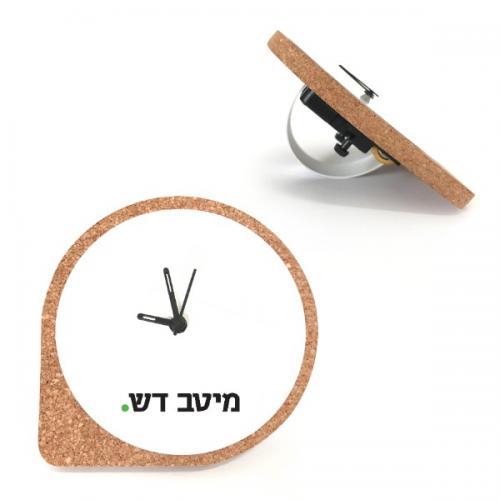 שעון שעם שולחני למשרד עם הדפס בצבע אחד