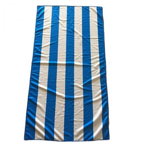 מגבת חוף פסים כחולים