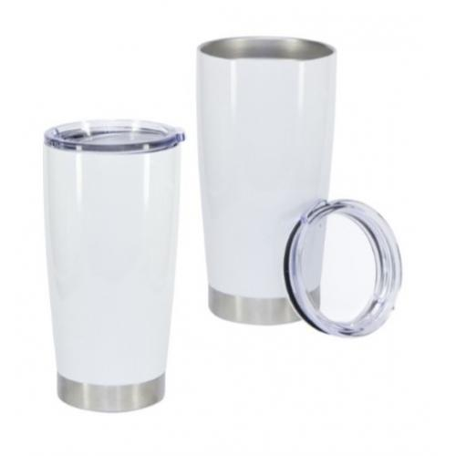 כוס גדולה לבנה לנסיעות