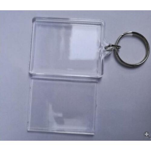 מחזיק מפתחות שקוף לתמונה קטן-בינוני