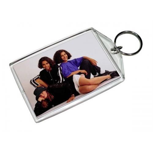 מחזיק מפתחות שקוף לתמונה בגודל בינוני