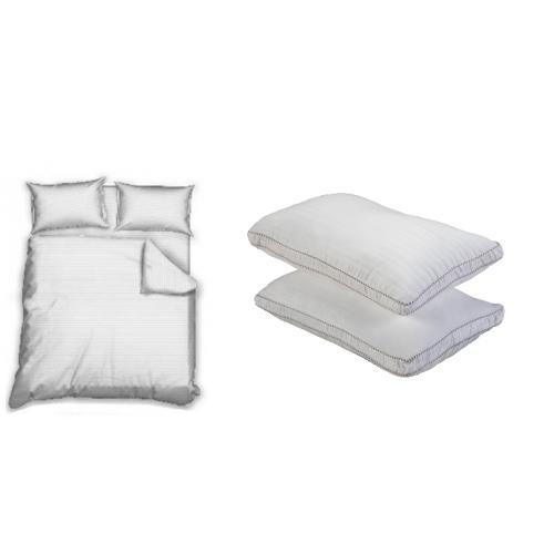 מארז סט מצעים זוגי וזוג כריות sleep comfort - דר גב