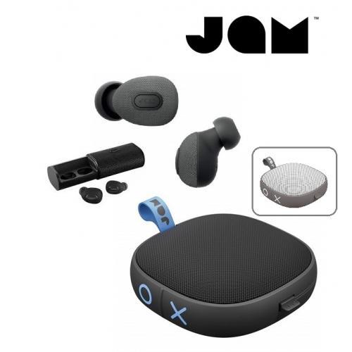 אוזניות טרו  ויירלס ורמקול עם דיבורית בלוטוס יוקרתיים של מותג JAM