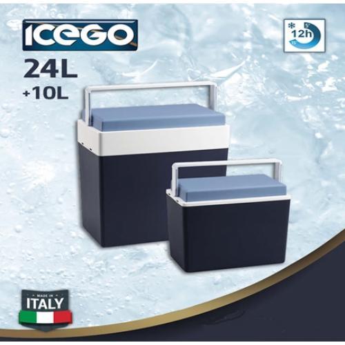 סט צידנית קשיחות  24+10 ליטר מבית  ICEGO  איטליה