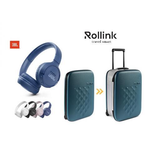 מארז נסיעות וטיולים חכם עם מזודה מתקפלת רולניק  ואוזניות JBL