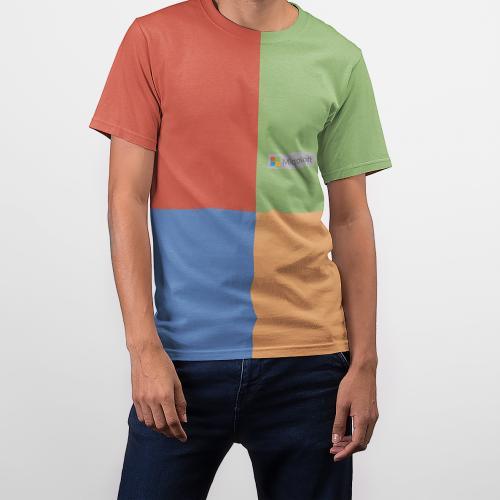 חולצות מנדפות זיעה מבד ננו פייבר בעל מראה כותנה כולל הדפסה מלאה