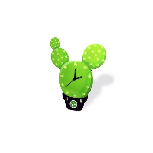 שעון קקטוס שולחני עם מיתוג צבעוני