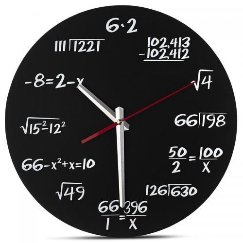 שעון קיר משוואה מתמטית