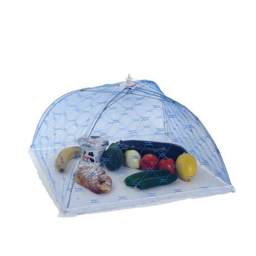 מטריה רשת מתקפלת נגד חרקים, זבובים ויתושים, לכיסוי מזון