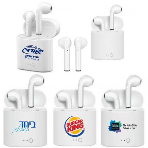 אוזניות כפתור בלוטות' אלחוטיות מתקדמות i7S תואם דגם אייפון