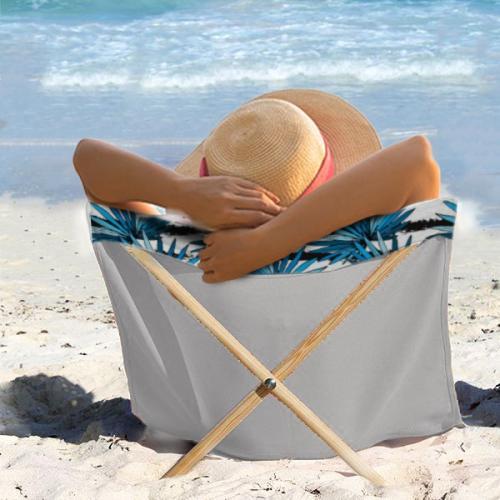 מגבת כיסא - מגבת גדולה בעלת מוטות ישיבה - כולל הדפסה מלאה