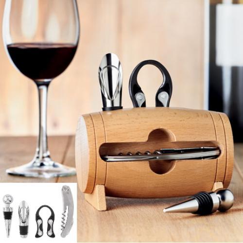 מעמד פותחני יין יוקרתי בצורת חבית