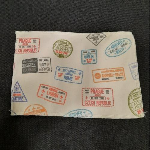 נרתיק דרכון מבד בהדפסה Allover