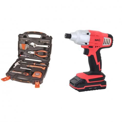 סט כלי עבודה- מברגה חשמלית וערכת כלי עבודה GPT