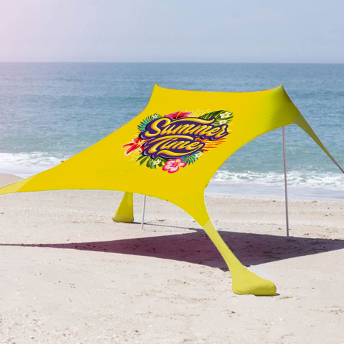 אוהל הצללה - ציליית חוף זוגית (150/210) - כולל הדפסה מלאה