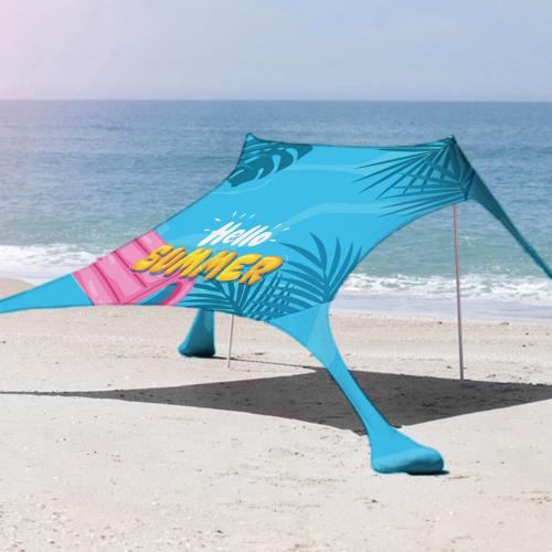 ציליית חוף ענקית XL (מתאימה ל4-6 אנשים) - כולל הדפסה מלאה