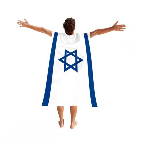 דגל גלימה עם ידיות לידיים לחגיגות ישראל ולעידוד במשחקי כדורגל