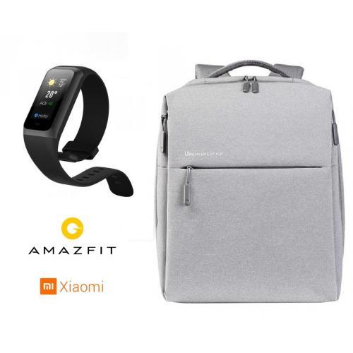 שעון חכם amazfit band 2 ותיק גב 20 ליטר Mi City Backpackמבית שיואמי XIAOMI