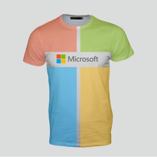 חולצה עם הדפסה צבעונית מלאה