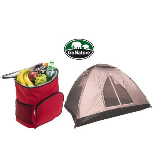 סט אוהל 4 אנשים של go-nature וצידנית משפחתית