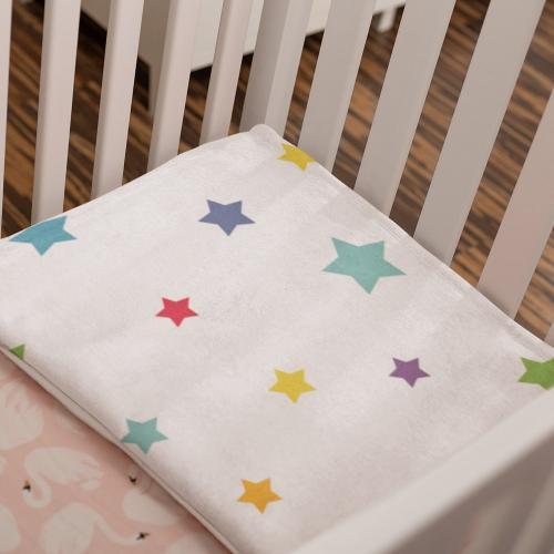 מצעים למיטת תינוק בהדפסה Allover