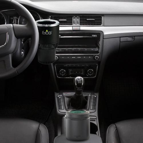 סט כיפי של גאדג'טים לנהג מתקן משקאות ומפיץ ריח